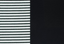 Black Mesh & Black Fabric